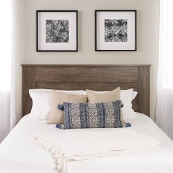 Prepac Select Queen Flat Panel Headboard Drifted Gray