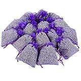 D'vine Dev 15 Lavender Sachets Bag for Closets and Drawers, Lavender Scented Sachets - Naturally Dried Lavender Flower Buds - by Lavande Sur Terre