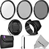55MM Altura Photo UV CPL ND4 Professional Lens Filter Kit and Accessory Set for Nikon AF-P DX 18-55mm and Sony Lenses with a 55MM Filter Size