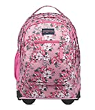 JanSport Driver 8 Core Series Wheeled Backpack Prism Pink Pretty Posey