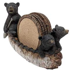 Black Bear Canoe Coaster Set