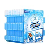 OICEPACK Ice Packs (Set of 10)Cool Pack for Lunch Box Freezer Packs for Lunch Bags and Coolers Ice Pack Slim Reusable Long Lasting Freezer Ice Packs Ice Packs Great for Coolers Blue