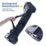 TOMOLOO Portable Hoverboard Bag, Waterproof Hoverboards Carrying Bag, Backpack for Two Wheels Self Balancing Smart Board with Storage Mesh Pocket