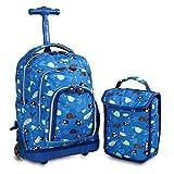 J World New York Kids' Lollipop Rolling Backpack with Lunch Bag, Seaworld