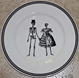 Royal Stafford Halloween Skeleton Couple Dinnerware - Set of 4 (RS Skeleton Dinner Plates)