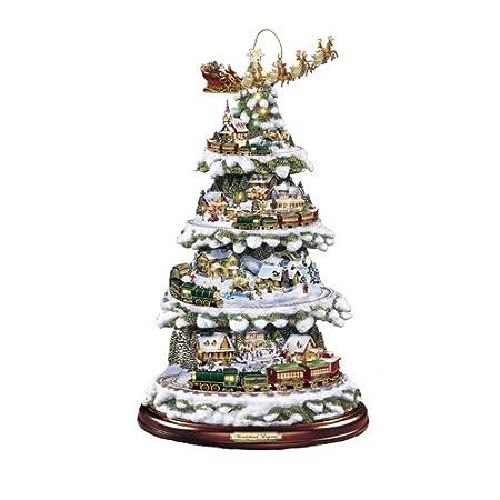The Bradford Exchange Wonderland Express Christmas Tree By Thomas Kinkade Lights Music And