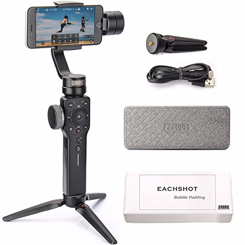 Zhiyun Smooth 4 3-Axis Handheld Gimbal Stabilizer w/Focus Pull & Zoom for Smartphone Like iPhone XS X 8 Plus 7 6 SE Samsung Galaxy S9+ S9 S8+ S8 S7 S6 Q2 Edge New Smooth-Q/III in 2018 Black