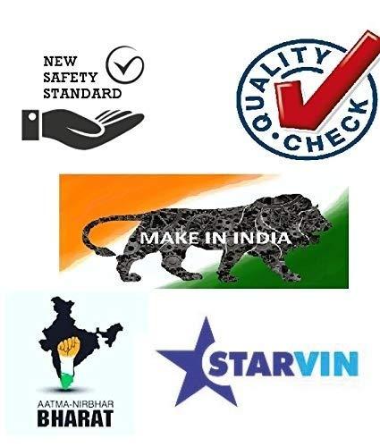 51Ye2yMM2GL - STARVIN IS Laurels Heat Blow Happy Noiseless Room Fan Heater || Make in India || Model 432 || M-11M523 | Multicolour