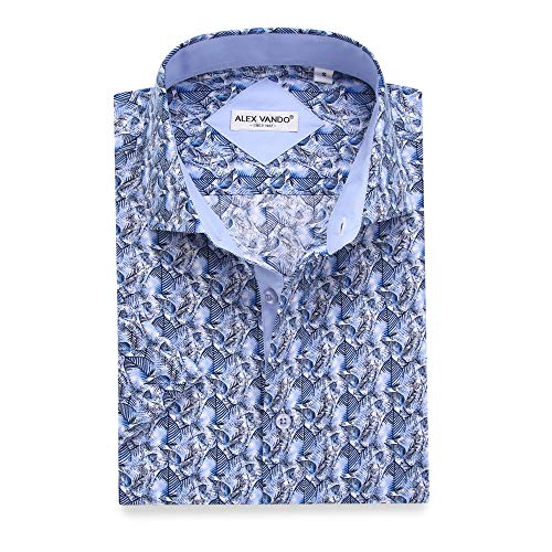 Alex Vando Mens Dress Shirts Casual Regular Fit Short Sleeve Shirts 1 Fashion Online Shop 🆓 Gifts for her Gifts for him womens full figure