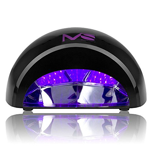 MelodySusie 12W LED Nail Dryer - Nail Lamp Curing LED Gel Nail Polish, Professional for Nail Art at Home and Salon - Black