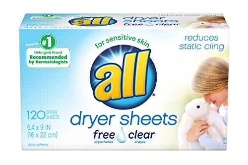 All Fabric Softener Dryer Sheets for Sensitive Skin