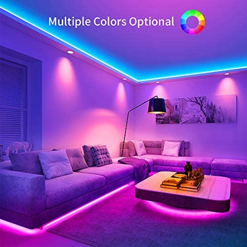 Govee LED Strip Lights, 32.8FT RGB LED Lights with Remote Control, 20 Colors and DIY Mode Color Changing LED Lights, Easy Installation Light Strip for Bedroom, Ceiling, Kitchen (2x16.4FT) 12
