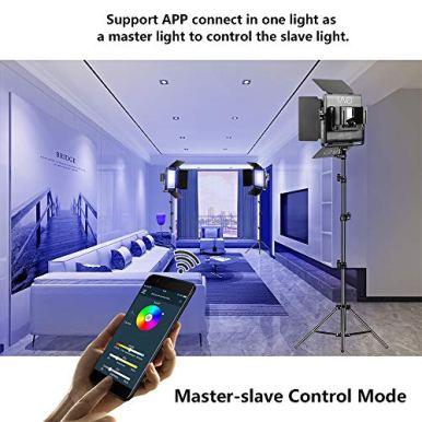 GVM-RGB-LED-Video-Lighting-Kit-800D-Studio-Video-Lights-with-APP-Control-Video-Lighting-Kit-for-YouTube-Photography-Lighting-3-Packs-Led-Light-Panel-3200K-5600K-8-Kinds-of-The-Scene-Lights