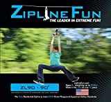 Adventure Parks Zip Line Fun ZL90 Ride On, 90', Blue Trolley