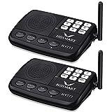 Wireless Intercom System Hosmart 1/2 Mile Long Range 7-Channel Security Wireless Intercom System for Home or Office (2018 New Version)[2 Stations Black]