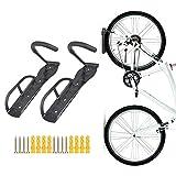 Teraysun Wall Mounted Bike Rack Stand Space Saving Vertical Hanger 2pcs