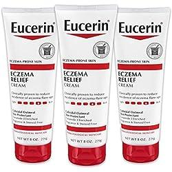 Eucerin Eczema Relief Cream - Full Body Lotion for Eczema-Prone Skin - 8 oz. Tube (Pack of 3)