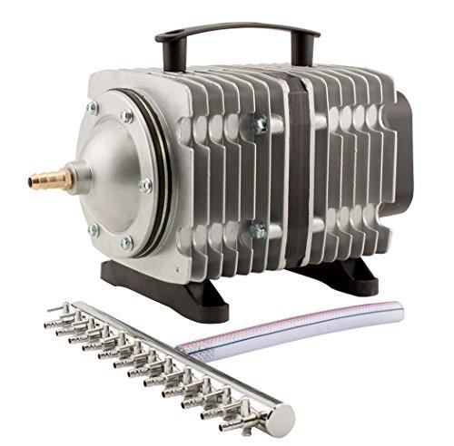 EcoPlus HGC728459 Eco Air7 Air Pump 7-200 Watt Single Outlet, 12 Valve Manifold for Aquarium, Fish Tank, Fountain, Pond… 51YoBudt uL