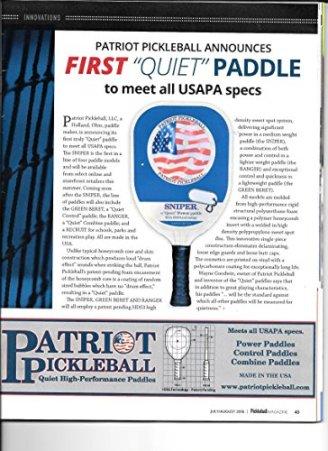"""SNIPER Patriot Pickleball Paddle """"Quiet"""" Composite"""