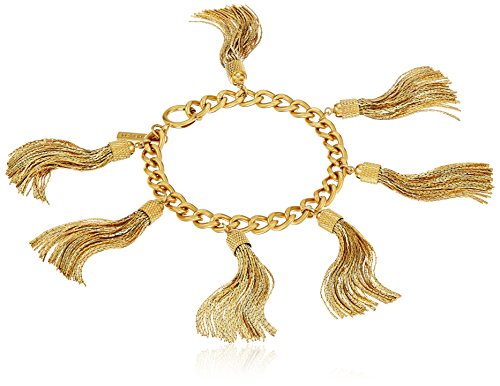 Made in China 14K Gold Plated Bracelet featuring tassels Imported