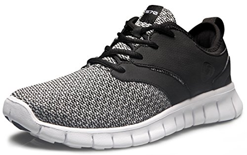 TF-X574-BLK_Men 8.5 D(M) Tesla Men's Knit Pattern Sports Running Shoes X574 ( True to Size )