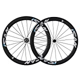 ICAN 50mm Carbon Road Bike Wheels 700C Clincher Sapim CX-Ray Spokes Shimano 10/11 Speed Only 1460g (Upgraded Version Wheelset)