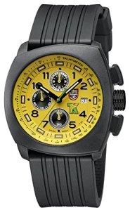 Luminox Tony Kanaan 1100 Series Yellow Dial Silicone Strap Men's Watch 1105