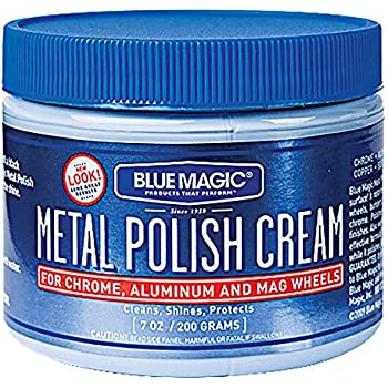 Best chrome polishes Blue Magic 400 7 Ounce 7OZ MTL Polish Cream