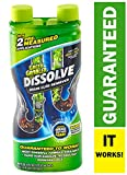 Green Gobbler GGDIS2CH32 DISSOLVE Liquid Hair & Grease Clog Remover / Drain Opener /Drain cleaner/ Toilet Clog Remover (31 OZ.) Packaging may vary.