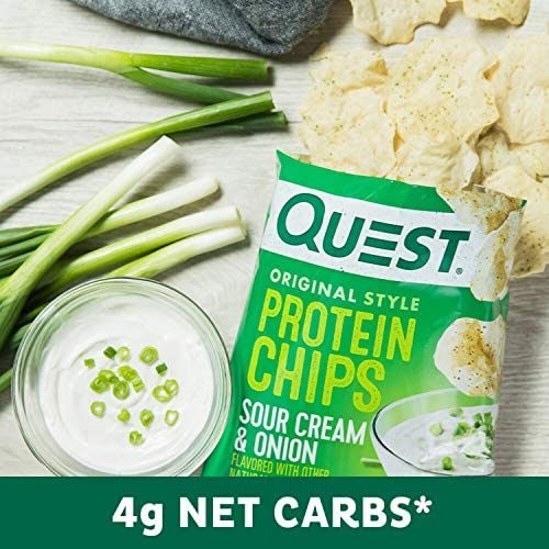 Quest Nutrition Protein Chips, Sour Cream & Onion, Pack of 12 5