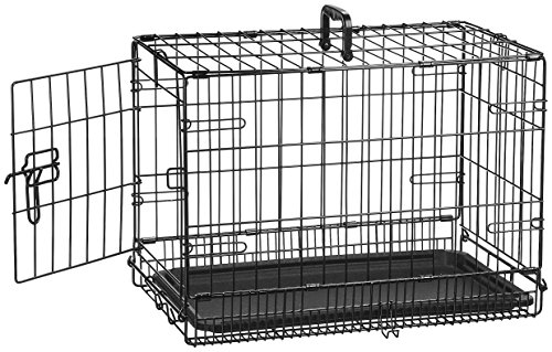 AmazonBasics Single-Door Folding Metal Dog Crate - 22 Inches