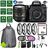 Nikon D750 DSLR Full Frame Camera with 24-120mm VR Lens + 4 Piece Macro Close-Up Set + 3PC Filter Kit (UV FLD CPL) + Tripod + Backpack + 2 Year Extended Warranty