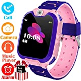 Kids Smart Watch for Boys Girls - HD Touch Screen Sports Smartwatch Phone with Call Camera Games Recorder Alarm Music Player for Children Teen Students Age 3-12