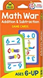 School Zone - Math War Addition and Subtraction Game Cards - Ages 6 and Up, Kindergarten to 2nd Grade, Math Games, Numbers, Addition & Subtraction Facts, Early Math, and More