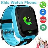 Kids Smart Watches Phone, SZBXD GPS Tracker Touch Screen Flashlight SOS Camera Clock Voice Chat Smartwatch - Boys Girls Christmas Birthday Gift (Blue)