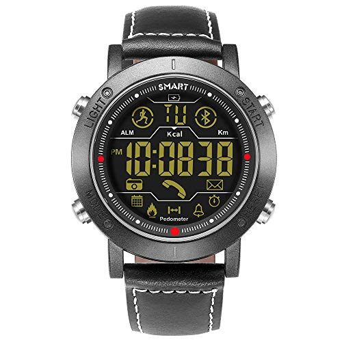Sports Smart Watch, Samxu Digital Outdoor Sports Smartwatch for Men with Pedometer, Calorie Counter, Distance, Stopwatch, Message Notifications, IP67 Waterproof Compatible with Android and iOS Phones