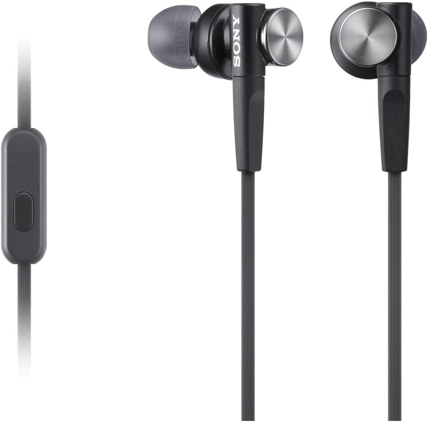 Sony MDR-XB50APB Ecouteurs Intra-auriculaires Extra Bass avec Microphone - Noir