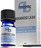 Pure Biology Eyelash Growth Serum & Eyebrow Enhancer - Biotin, Green Tea, Panax Ginseng, Natural DHT Blockers & Breakthrough Hair Growth Stimulating Complex - Men & Women - Applicators Incl.
