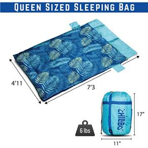 Chillbo-Double-Sleeping-Bag-for-Adults-Queen-Sleeping-Bag-for-Backpacking-Camping-Hiking-Music-Festivals-Cool-Patterns-Queen-Size-XL-2-Person-Sleeping-Bags-for-Adults