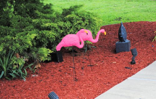 Lot-of-12-Extra-Large-Pink-Flamingos-Lawn-Yard-Ornament-3-Dimensional-Ornaments