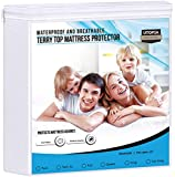 Utopia Bedding Waterproof Mattress Protector - Breathable Mattress Cover - Fitted Style All Around Elastic - Fits 15 Inches Deep (Twin)
