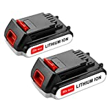 Energup [Upgraded] 2 Pack 20v 2500mAh Lithium-Ion Replacement Battery for Black&Decker LBXR20 LB20, LBX20 Cordless Tool Battery