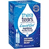 TheraTears Eye Drops for Dry Eyes, Nighttime Dry Eye Therapy Lubricant Eyedrops, Preservative Free, 28 Count Single-Use Vials