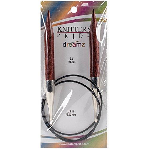 "Knitter's Pride 17/12mm Dreamz Fixed Circular Needles, 32"""