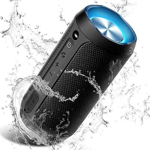 Wireless Speaker Bluetooth Coocheer 24w Bluetooth Portable Speaker With Party Light Ip67 Waterproof Portable Wireless Speakers For Outdoor Tws 20 Hour Playtime Built In Mic Dustproof Priparax Com