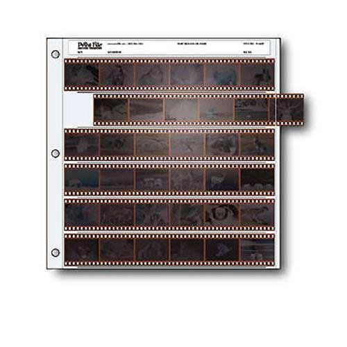 Archival 35mm Size Negative Pages Holds Six Strips of Six Frames