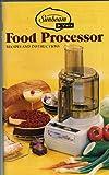 Sunbeam Vista Food Processor Recipes and Instructions (228-300-5563A)