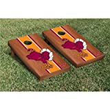 NCAA Rosewood Stained Stripe Version 2 Cornhole Game Set NCAA Team: Virginia Tech Hokies