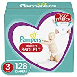 Diapers Size 3, 128 Count - Pampers Cruisers 360° Fit Disposable Baby Diapers, Enormous Pack