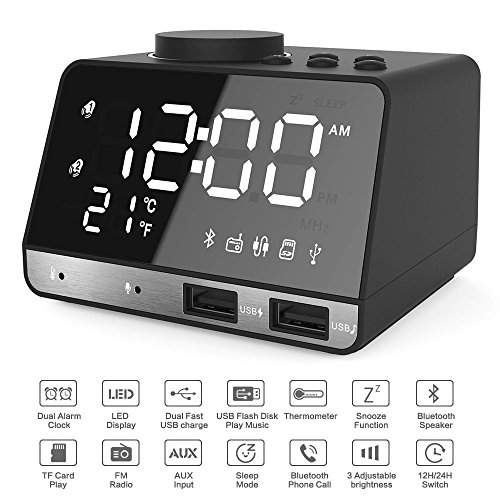 Alarm-Clocks-for-Bedrooms-42-LED-Digital-Alarm-Clock-Radio-with-FM-Radio-Dual-USB-Port-for-Charger-Snooze-Bluetooth-AUX-TF-Card-Play-Battery-Backup-Best-Gift-for-Men